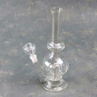 "10"" Clear Glass Water Pipe w/Showerhead Perc"