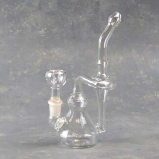 """7.5"""" Clear Glass Recycler"""