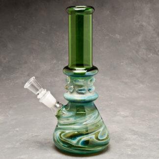 """10"""" Color Swirl Erlenmeyer-Style Fancy Glass Water Pipe"""