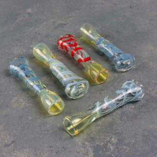 "3.5"" Fumed and Tapered Smooth Glass Chillums"