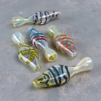 "3.5"" Fumed Wide-Body Glass Chillums w/Cord"