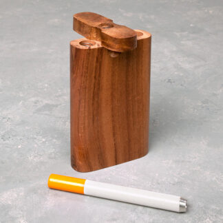"4"" Basic Wooden Dugout with Metal Cigarette One-Hitter"