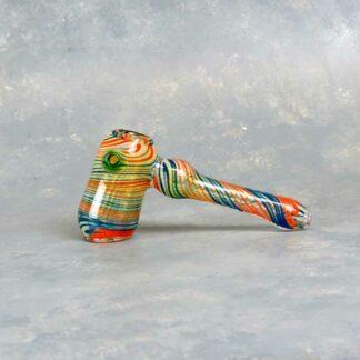 Color Swirl Fumed Hammer Bubbler