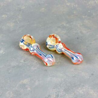 "4"" Glass Spoon Style Hand Pipes"
