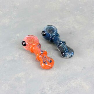 Tapered w/Rings Spoon Style Glass Hand Pipes