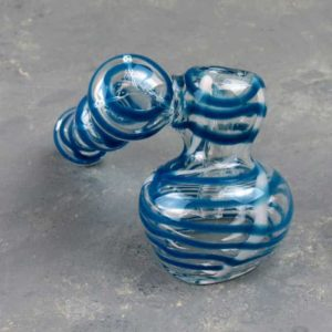 """5"""" Clear/Color Sidecar Style Glass Bubbler"""
