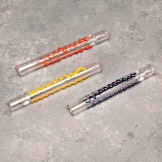 "3"" Color Design Glass Cigarette-Style One-Hitters"