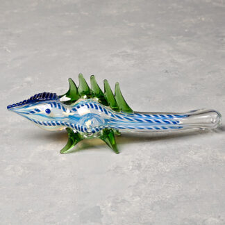 Spiked Lizard Glass Hand Pipe