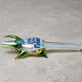 Horned Lizard Glass Hand Pipe