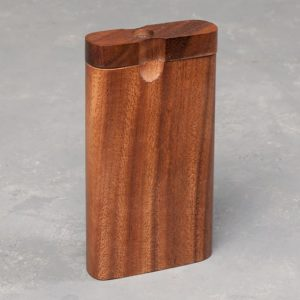 """4"""" Wooden Dugout w/Rounded Edge and 3"""" Metal Cigarette One-Hitter"""