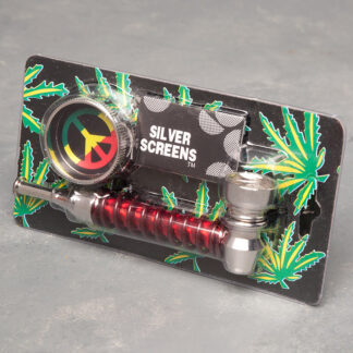 Metal Coil Pipes w/Grinders and Screens