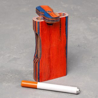 """4"""" Layered Wood Dugout w/Cutout and 3"""" Cigarette One-Hitter"""