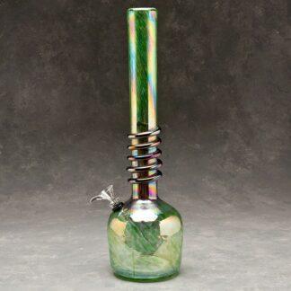 "16"" round Base Soft Glass Water Pipe w/Wrap and Chromametallic Finish"