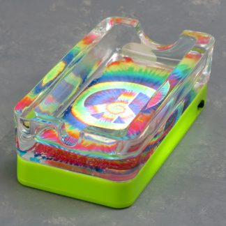 """2.5"""" x 4.5"""" Glow in the Dark and LED Assorted Ashtrays"""