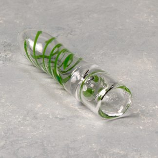 """2.75"""" Pinstripe Swirl Accent Glass One Hitters"""