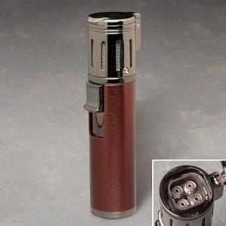 "4"" Flip-Top Quad-Torch Lighter"