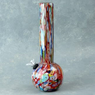 "10"" Dicro Multicolor Heavy Glass Water Pipe w/Slide"