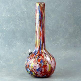 """14"""" Dicro Multicolor Heavy Glass Water Pipe w/Slide"""