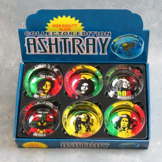 """3.5"""" Glass Ashtrays w/Marley"""