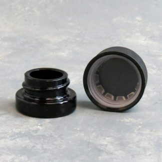 """1"""" Small Glass Container w/Plastic Childproof Cap"""