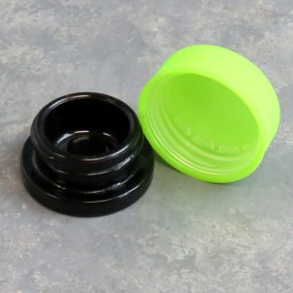 """1"""" Wide Glass Container w/Plastic Childproof Cap"""