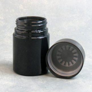 "3.5"" Glass Blackout Jar w/Plastic Childproof Cap"