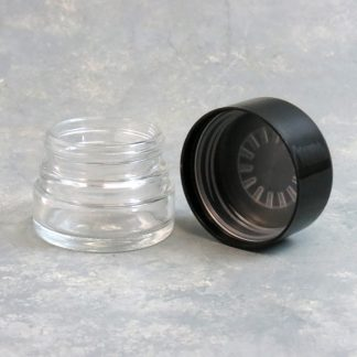 "2"" Short Glass Jar w/Plastic Childproof Cap"