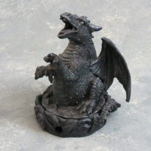 "4"" Covered Dragon Cone Incense Burner"