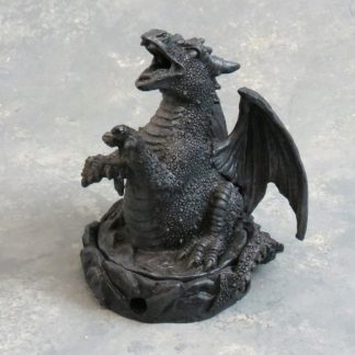 "4"" Covered Dragon Cone Incense Burner"