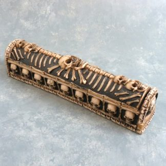 "11"" Covered Skulls & Bones Incense Burner"