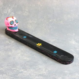 "10"" Painted Calavera Incense Burner"