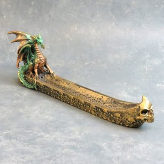 "12"" Dragon & Skulls Incense Burner"