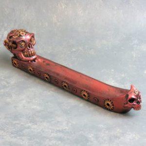 """12"""" Steampunk Skulls Incense Burner"""