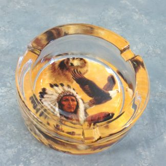 Thick Glass Native American Ash Trays