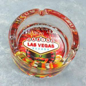 Thick Glass Las Vegas Ash Trays