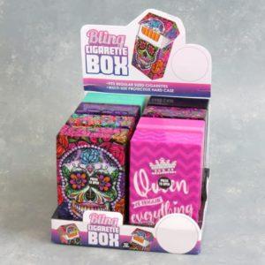 Mix 'Bejeweled' Graphic Plastic Flip-Top Cigarette Case