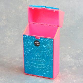 "Mix ""Engraved"" Plastic Flip-Top Cigarette Case (King & 100)"