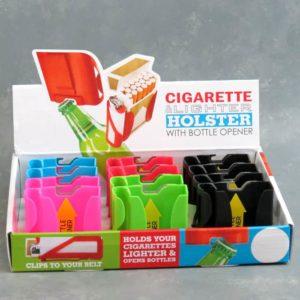 Cigarette and Lighter Holder w/Bottle Opener and Belt Clip
