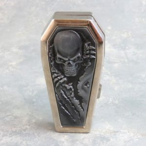 Two-Sided Gothic Casket Metal Cigarette Case