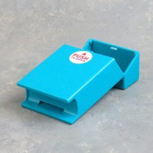 Solid Color Plastic Flip-Top Cigarette Case w/Lighter Holder