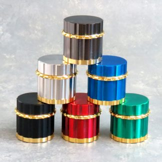 45mm All-Magnetic 4pc Grinders w/Gold Accent