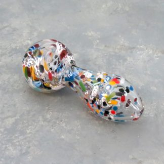 """4"""" Multicolor Inside Out Frit Glass Hand Pipes"""