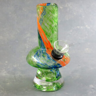 """6"""" Mushroom Soft Glass Water Pipe w/Thick Base"""