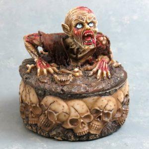 """4"""" Vampire & Skulls Ash Tray w/Lid"""