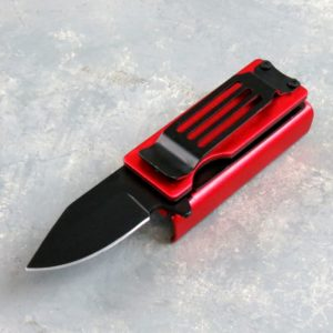 """1.5"""" Spring Assisted Knife/Lighter Holder w/Clip"""