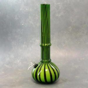 """12"""" Pinstripe Color Fade Soft Glass Water Pipe"""