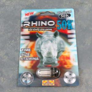 Rhino Platinum 50K – Male Enhancement Single Pill – 24 Counts Per Box