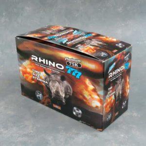 Rhino 777 Platinum 75K – Male Enhancement Single Pill – 24 Counts Per Box