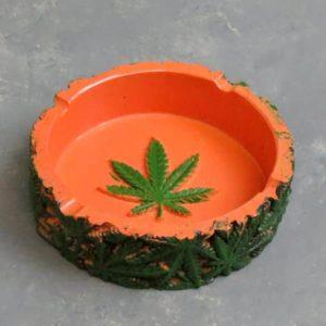 "4.25"" Round Leaf Ashtray"