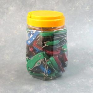 """1 5/8"""" Assorted Color Keychain Knives (60PCS)"""